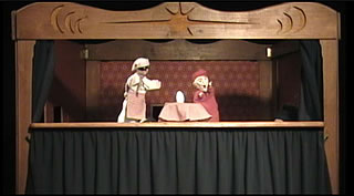 Commedia dell'arte style of puppetry